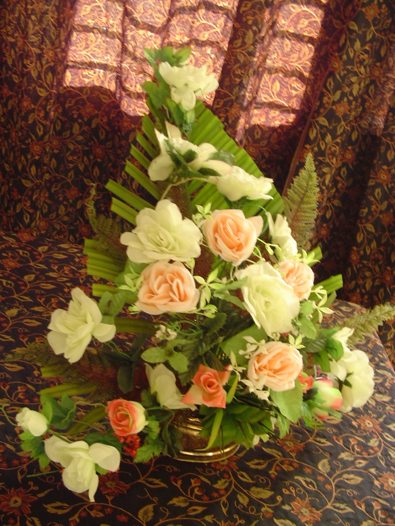 triangle flower arrangement