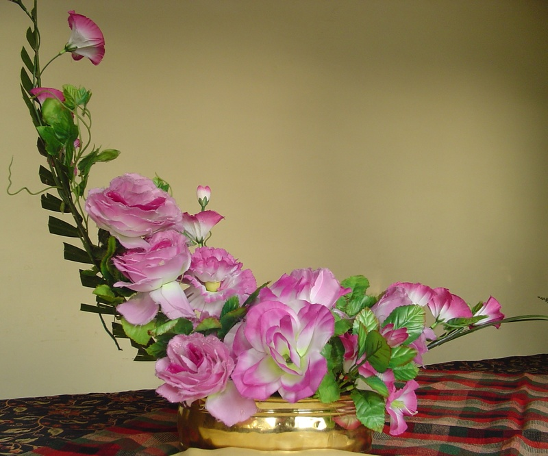 crescent flower arrangement