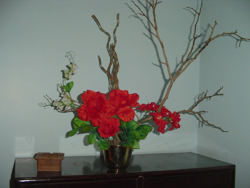 abstract flower arrangement
